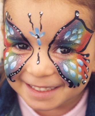 cara de borboleta